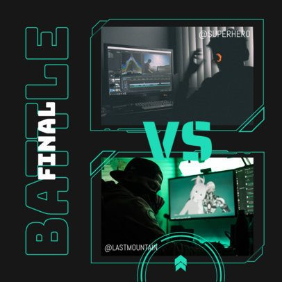 Instagram Post Design Creator for a Final Gaming Match 2346e-el1