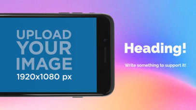 Black iPhone 7 Landscape Position Cut App Store Screenshot Maker 1344a