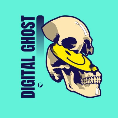 Logo Creator for a Streetwear Brand with a Fragmented Skull Graphic 3486c