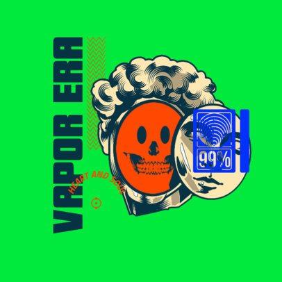 Urban Apparel Logo Maker Featuring an Art Sculpture with an Emoticon Face 3486d