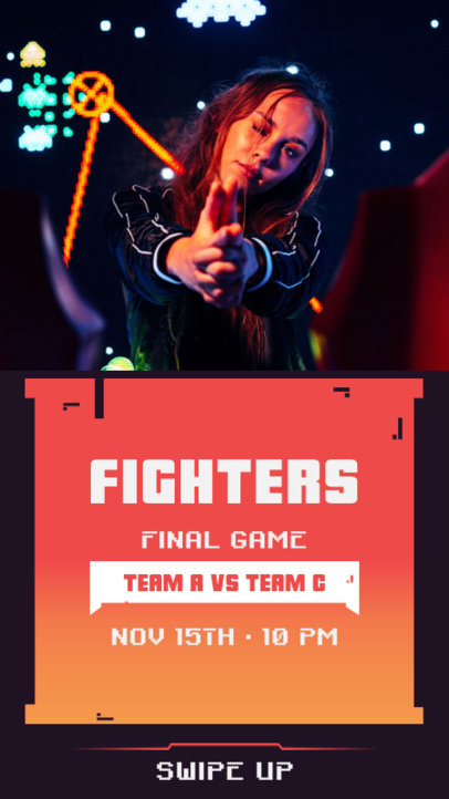 Instagram Story Generator Featuring a Final Game Livestream Promo 2344b-el1