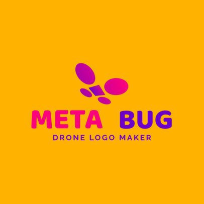 Logo Generator for a Tech Brand with an Abstract Drone 3483b