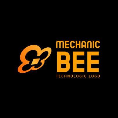 Logo Creator for a Tech Company Featuring an Abstract Quadcopter Graphic 3483e