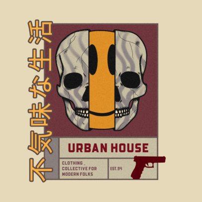 Streetwear Logo Generator Featuring a Distorted Skull Illustration 3484d
