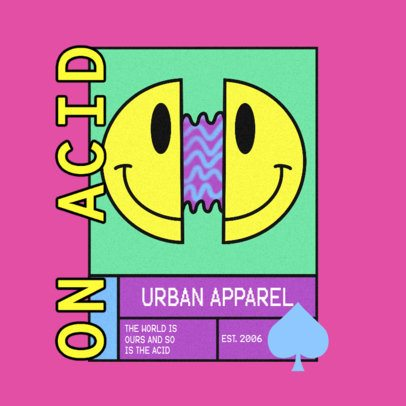 Logo Maker for an Urban Apparel Brand with a Fragmented Smiley Face 3484e