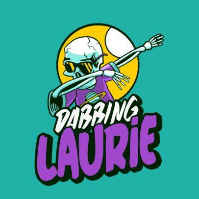 Logo Creator Featuring a Dabbing Skeleton 3492i