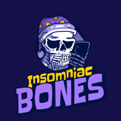 Logo Maker for an Urban Apparel Brand Featuring a Skull in Pijamas 3492o