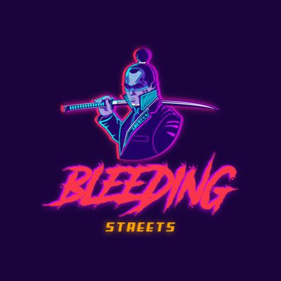 Gaming Logo Maker Featuring Characters with a Cyberpunk Aesthetic 3522