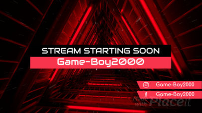 Twitch Starting Soon Screen Video Maker with Cool Graphics 835