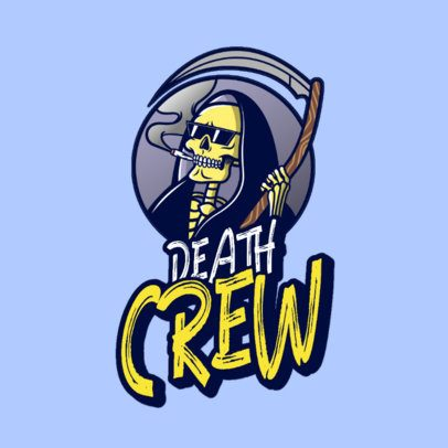 Streetwear Logo Generator Featuring a Smoking Reaper 3492o