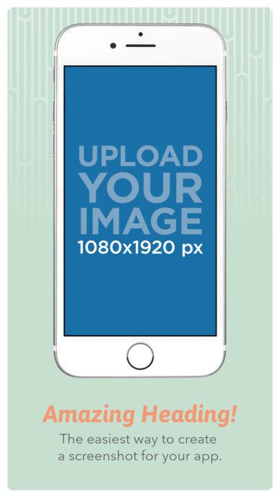 iPhone 7 Floating App Store Screenshot Maker