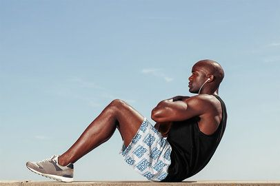 Sportswear Shorts Mockup of a Man Doing Crunches 38980-r-el2