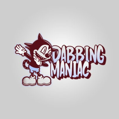 Logo Maker Featuring Irreverent Cartoons Dabbing 3529