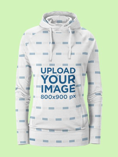 Ghosted Mockup of a Sublimated Women's Hoodie 39740-r-el2