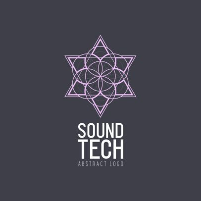 Abstract Logo Creator for a Sound Technician 2439c-el1