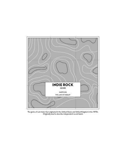 T-Shirt Maker Featuring Topographic Maps with Music Genres 2318-el1