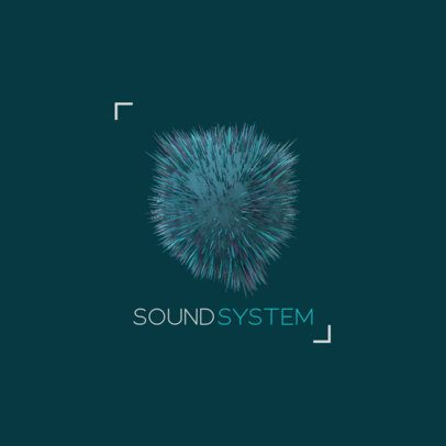 Logo Generator for a Sound System Featuring an Exploding 3D Sphere 2441b-el1