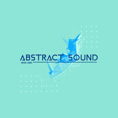 Music Label Logo Creator with a Vectorized Abstract Shape 2436c-el1