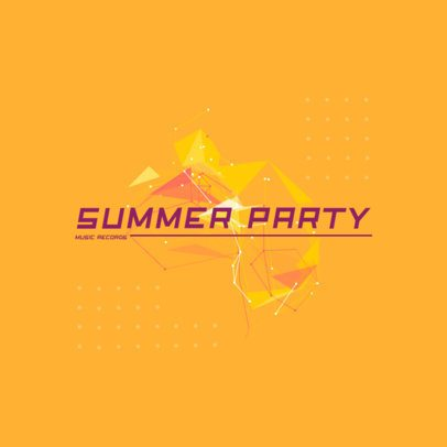 Abstract Logo for a Music Producer with a Summer-Vibe 2436d-el1