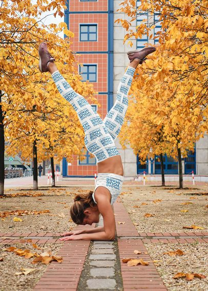 Sports Bra and Leggings Mockup of a Woman Doing an Elbow Stand 35027-r-el2