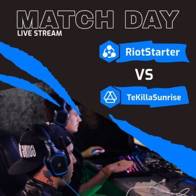 Gaming Instagram Post Creator for a Match Day Reminder 2451c-el1