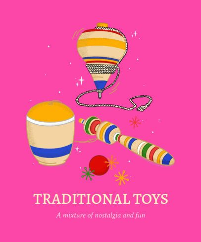 T-Shirt Design Generator Featuring Illustrated Wooden Toys 2779h