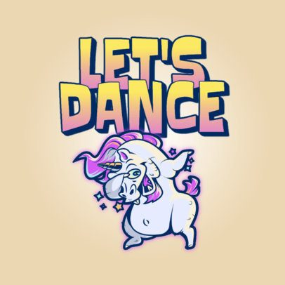 Logo Generator for a Streetwear Brand with a Dancing Unicorn 3529b