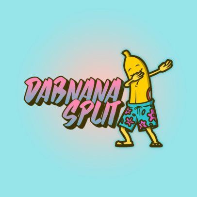 Logo Maker with a Dabbing Banana Wearing Shorts 3529d