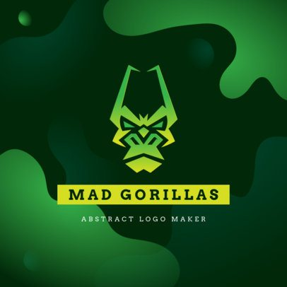 Logo Creator for a Gaming Squad with a Mad Gorilla Graphic 3515c