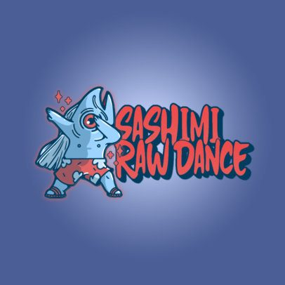Fun Logo Creator Featuring a Dabbing Fish in a Swimsuit 3529h