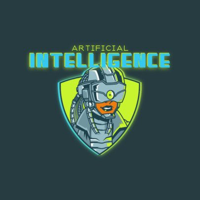 Logo Creator Featuring an Artificial Intelligence Character 3522e