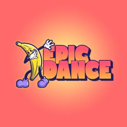 Logo Maker Featuring a Dabbing Banana with Big Shoes 3529l