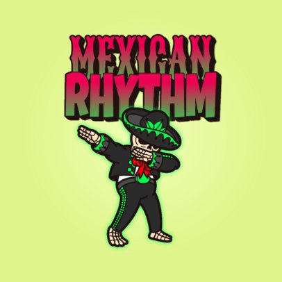 Logo Maker Featuring a Mexican Skeleton Cartoon 3529s