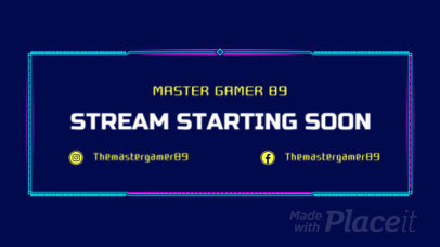 Starting Soon Screen Video Generator for Gamers With Retro-Styled Graphics 757