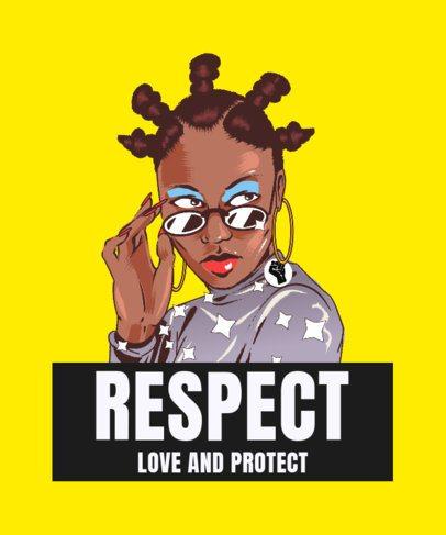 T-Shirt Design Template to Celebrate Black Pride 2799