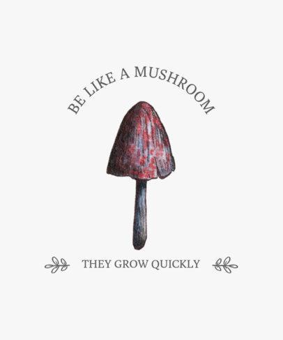 T-Shirt Design Maker Featuring a Magic Mushroom Illustration 2508a-el1