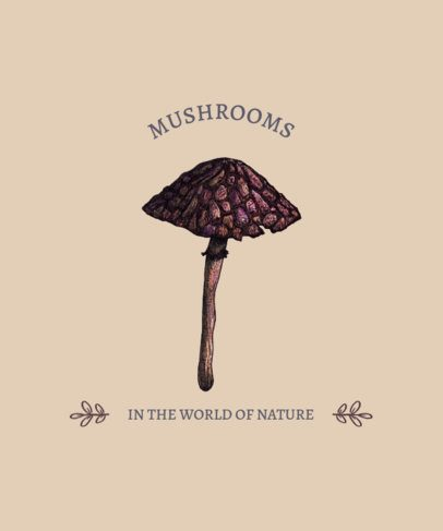 T-Shirt Design Generator Featuring Fungi Illustrations 2508e-el1