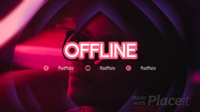 Twitch Offline Video Maker with a Futuristic Style 159