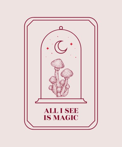 Magic T-Shirt Design Maker for Mushroom Enthusiasts 2510d-el1