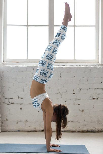 Leggings and Sports Bra Mockup of a Woman Doing a Handstand 37773-r-el2