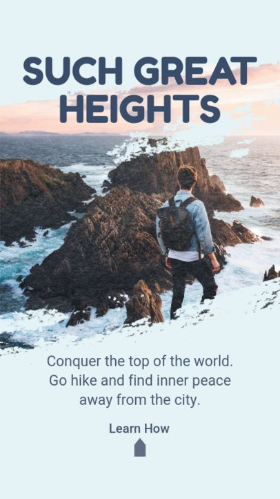 Instagram Story Creator for Hiking Enthusiasts 2487e-el1