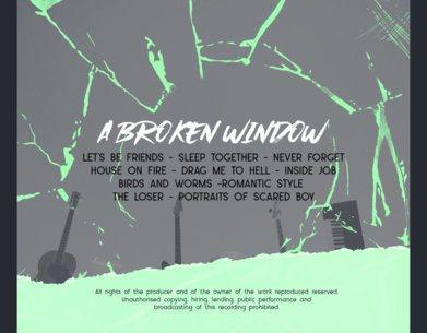 Back Album Cover Maker Featuring a Broken Glass Effect 2790h