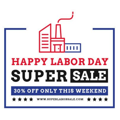 Instagram Post Maker for a Labor Day Super Sale Ad 2467a-el1