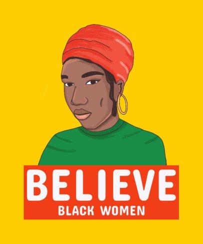 Black Pride-Themed T-Shirt Design Featuring a Black Woman 2799b