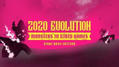 Horror Gaming YouTube Thumbnail Maker with Monster Illustrations 2797f