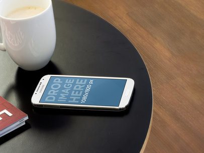 Samsung Galaxy White Portrait Black Coffee Table