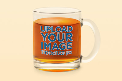 11 oz Clear Glass Mug Mockup Featuring a Plain Color Background 36435-r-el2