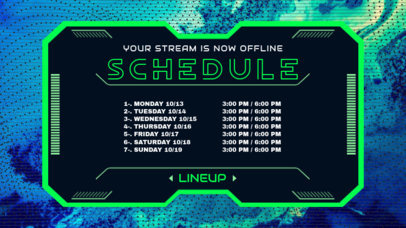 Twitch Banner Template for a Music Streaming Schedule or Lineup 2812