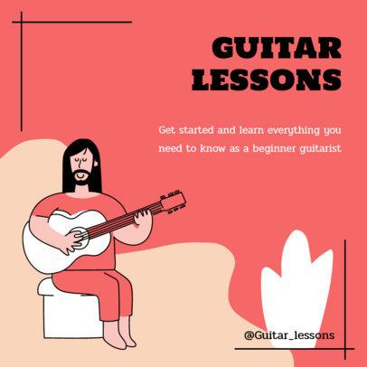 Instagram Post Maker for Guitar Lessons at Home 2584d-el1