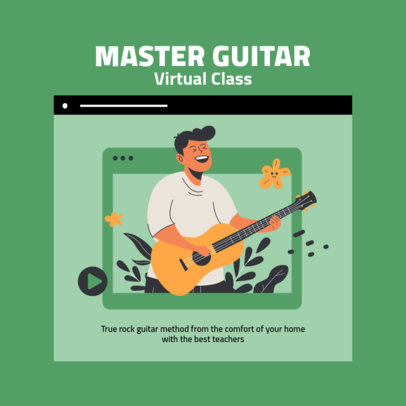 Instagram Post Creator Featuring a Guitar Virtual Class Graphic 2585a-el1